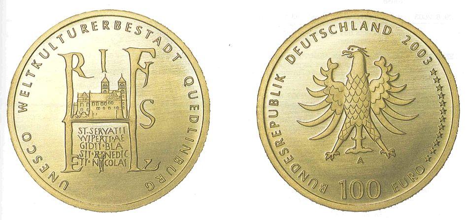 """""""10 Euro Münze UNESCO Weltkulturerbestadt Quedlinburg"""""""